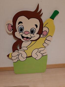 Nr.49 Äffli mit Banane Variante grün