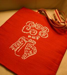 Seeds Senri Oe x Tomi Jazz: Red Tote Bag