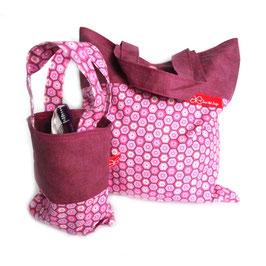 Wäsche-/Zahnputzbeutel Sechsecke in Pink