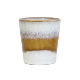 Ceramic 70's Mug snow  - HK Living