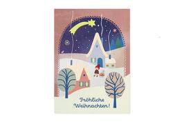 Postkarte Weihnachtsdorf - Monimari