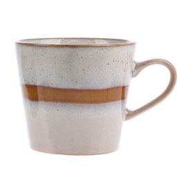 Ceramic 70's Cappuccino Mug snow- HK Living