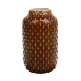 Vase braun glasiert - HK Living