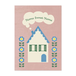 Postkarte Home sweet home - Monimari