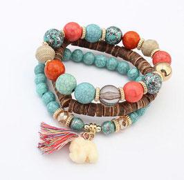 Bracelets Turquoise - Bois