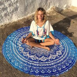 Tapis de méditation - Fleur bleue