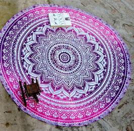 Tapis de méditation - Fleur rose
