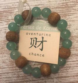 Bracelet perles de karma (enfant) - Aventurine