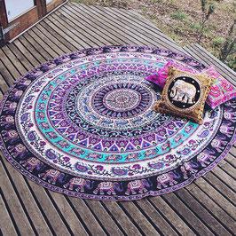 Tapis de méditation - Eléphant violet