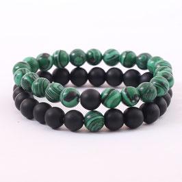Bracelets Vert Noir