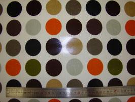 Gros Pois marron/orange pvc brillant