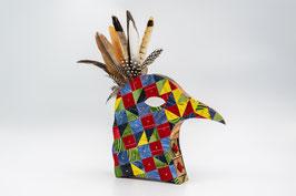 Vogelkopf mit 2 Schubladen