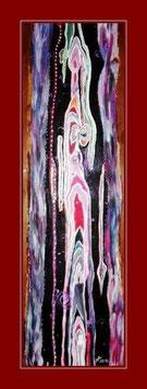 8 - Acryl auf Zirbenholz 31 x 105cm
