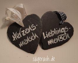 Schieferherz - Herzens-/Lieblingsmensch