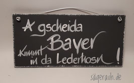 A gscheida Bayer kimmt in da Lederhosn!