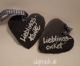 Schieferherz - Lieblingstante/-onkel