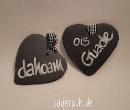 Schieferherz - dahoam/ois Guade