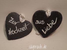 Schieferherz - Zur Hochzeit/ausLiebe