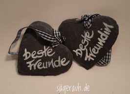 Schieferherz - beste Freunde/beste Freundin