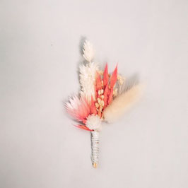 Boutonnière de fleurs séchées - Collection Cosmos - Champêtre