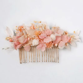 Peigne de fleurs séchées - Olivia - Romantique