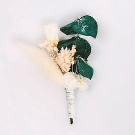 Boutonnière de fleurs séchées - Collection Louise - Naturelle