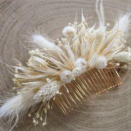 Peigne de fleurs séchées - Garance - Champêtre