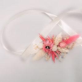 Bracelet de fleurs séchées - Cosmos - Champêtre