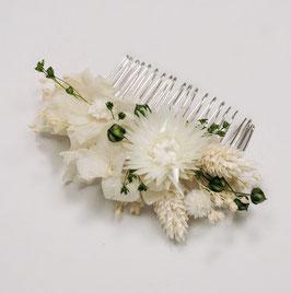 Peigne de fleurs séchées - Amélie - Végétale