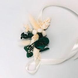 Bracelet de fleurs séchées - Louise - Eucalyptus