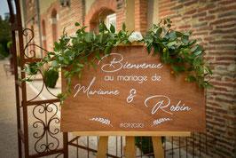 Stickers Panneaux de bienvenue mariage - Collection Nature Chic