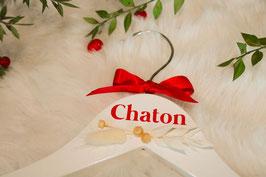 Fleurs séchées - Cintre en bois blanc - 100% Made in France