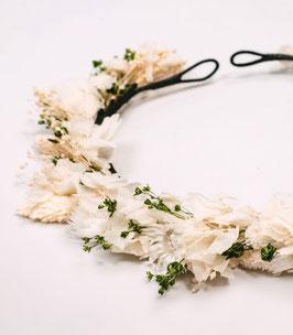 Couronne de fleurs séchées - Amélie - Végétale