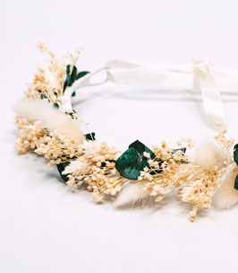 Couronne de fleurs séchées - Louise - Naturelle