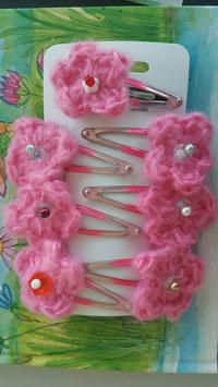 Bina Bienchen Haarspange, Blüte aus Wolle