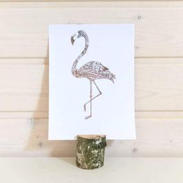 Foliendruck Flamingo