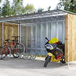 Abri-Vélos TOLE & BOIS