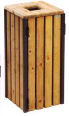 Corbeille Bois carrée 110L