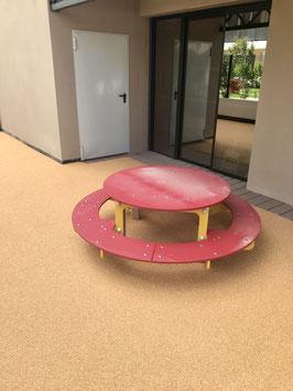 TABLE PIQUE NIQUE BICOLORE