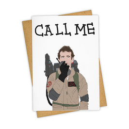 POSTKARTE GHOST BUSTERS - CALL ME