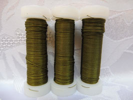 Cordonettdraht farbig olivgrün 20er