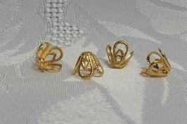 Perlkappen echt vergoldet