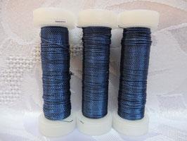 Cordonettdraht farbig dunkelblau 20er
