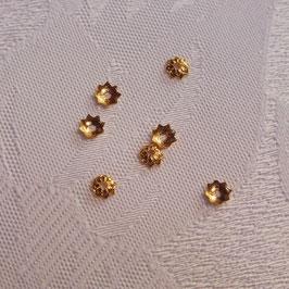 Perlkappe echt vergoldet