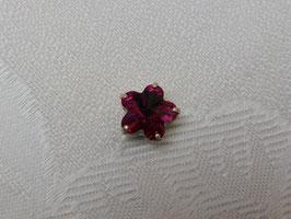 Glassteine Blüte Fuchsia
