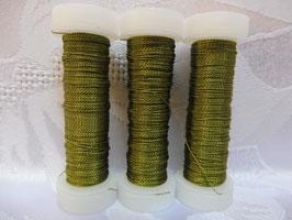 Cordonettdraht farbig olivgrün hell 20er