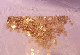 Pailetten 4 mm echt vergoldet