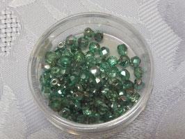 Glasschliffperlen blaugrün 4 mm