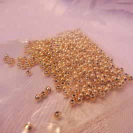 Perlen gold 2 mm