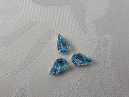 Glassteine Tropfen Swarovski aqua